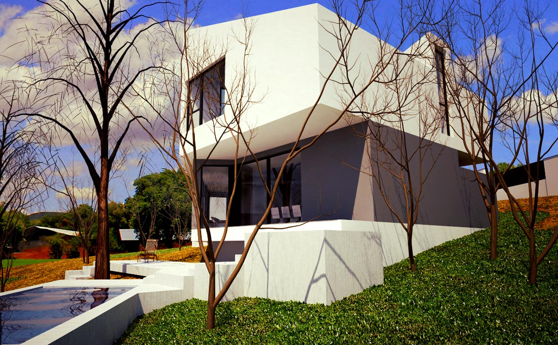 Casa moderna en el escorial m5 madehome for Casa moderna l